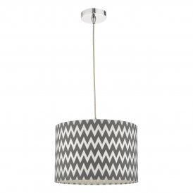 ZIG6555 Ziggy Easy Fit Pendant Shade in Grey and White Finish