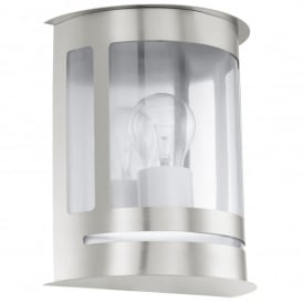 Daril Single Light Outdoor Wall Fitting In Stainless Steel Finish