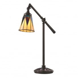 Dark Star Single Light Task Table Lamp in Tiffany Design