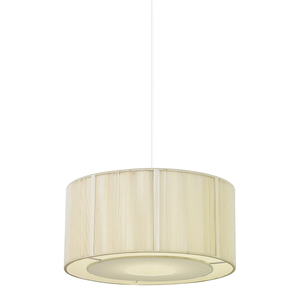 Endon Lighting Darlington Ceiling Light Pendant Cream
