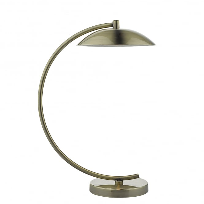 Dar Lighting Dash Single LED Task Lamp in Antique Brass Finish