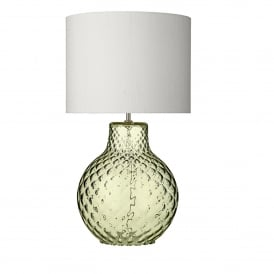Azores Single Light Large Table Lamp Base Only in Green Glass