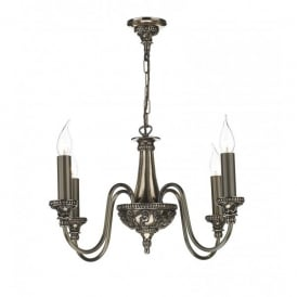 BAI0463 Bailey 4 Light Chandelier in a Rich Bronze Finish