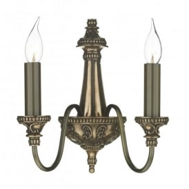 BAI0963 Bailey 2 Light Wall Fitting in Rich Bronze Finish