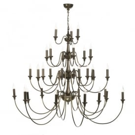 BAI3363 Bailey 33 Light Ceiling Chandelier In Rich Bronze Finish