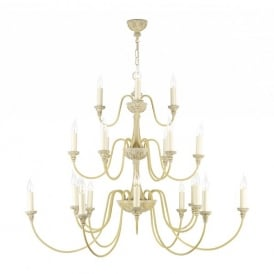 Bailey Extra Large 21 Light Chandelier in an Antique Cream Finish