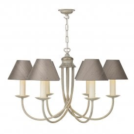 BE69 Bermuda 6 Light Chandelier Fitting with Cream Gold Finish