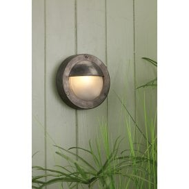 BEM5037 Bembridge Single LED Outdoor Wall Fitting Made From Solid Brass in Oxidised Finish