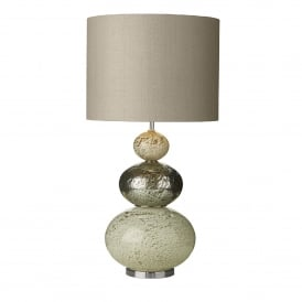 Boavista Single Light Table Lamp Base Only in Multi-Colour Glass Effect Finish