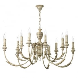 Emile 12 Light Ceiling Pendant In Rustic French Finish