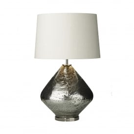 EVO4332 Evora Single Light Table Lamp Base Only in Volcanic Glass Mirror Effect Finish