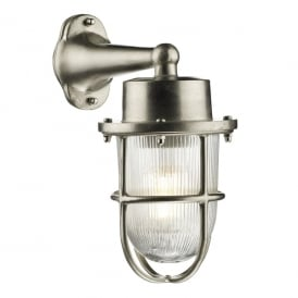 HAR1538 Harbour Single Light Solid Brass Wall Fitting in Nickel Finish with Glass Diffuser
