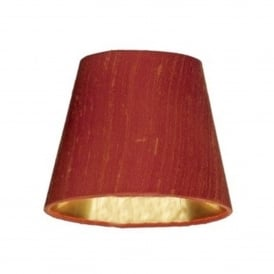 Hidcote 7 Inch 100% Silk Firefly Candle Clip Shade With Gold Lining