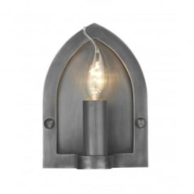LW8 Lindisfarne Single Light Wall Fitting in Antique Pewter Finish