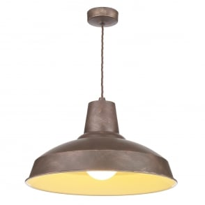 Reclamation Single Light Ceiling Pendant in Weathered Bronze Finish