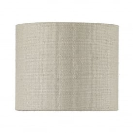 S0699/86 Sloane 100% Silk Shade In Linen Grey Finish