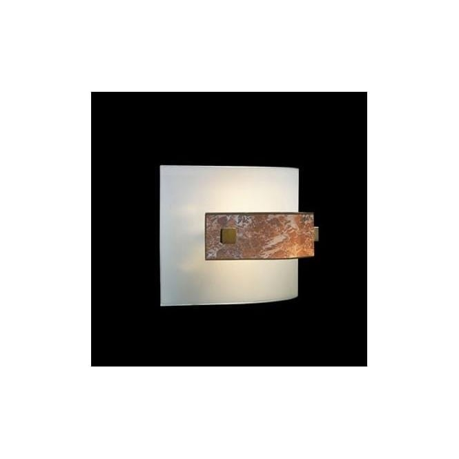 David Hunt Lighting Savoy Single Light Halogen Wall Fitting With Frosted And Marble Glass Finish