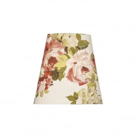 Sherwood Table Lamp Shade in Floral Romano Rosso Fabric