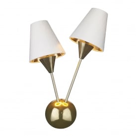 SPU0940 Sputnik 2 Light Wall Fitting In Brass Finish