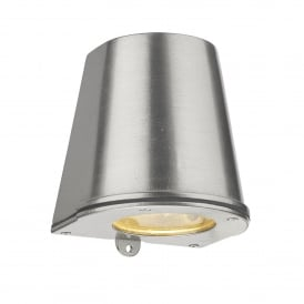 STR1538 Strait Single LED Outdoor Wall Fitting Made From Solid Brass in Nickel Finish