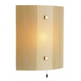SWL0763 Swirl Single Light Switched Wall Sconce with a White and Amber Pattern