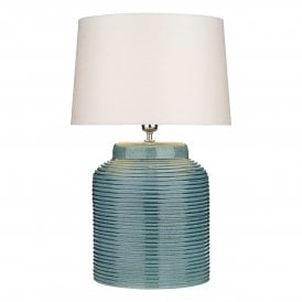 Tidal Single Light Table Lamp Base in Petrol Blue Finish