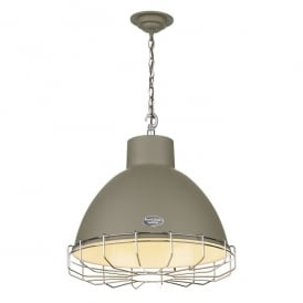 Utility Single Light Ceiling Pendant in Marston & Langinger Mole Brown Finish