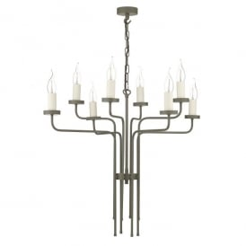 Vail 8 Light Ceiling Pendant In Marston & Langinger Mole Brown Finish