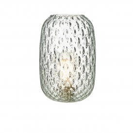 Vidro Small Dimpled Clear Glass Shade