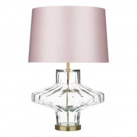 VIE4308 Vienna Single Light Clear Glass Table Lamp Base