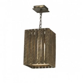 Whistler Single Light Ceiling Fitting with a Gold Cocoa Finish