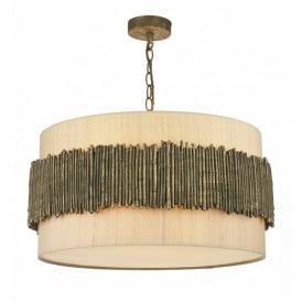 Willow 4 Light Ceiling Pendant with Gold Cocoa Finish