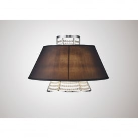 Davina 2 Light Wall Fitting With Black Fabric Shade