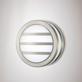 Aldo 2.4w Integrated LED Louvre Outdoor Wall Or Ceiling Fitting in Stainless Steel Finish