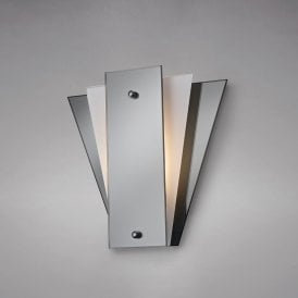 Atlantis Single Light Wall Fitting in Polished Chrome Finish with Frosted and Smoked Mirrored Glass