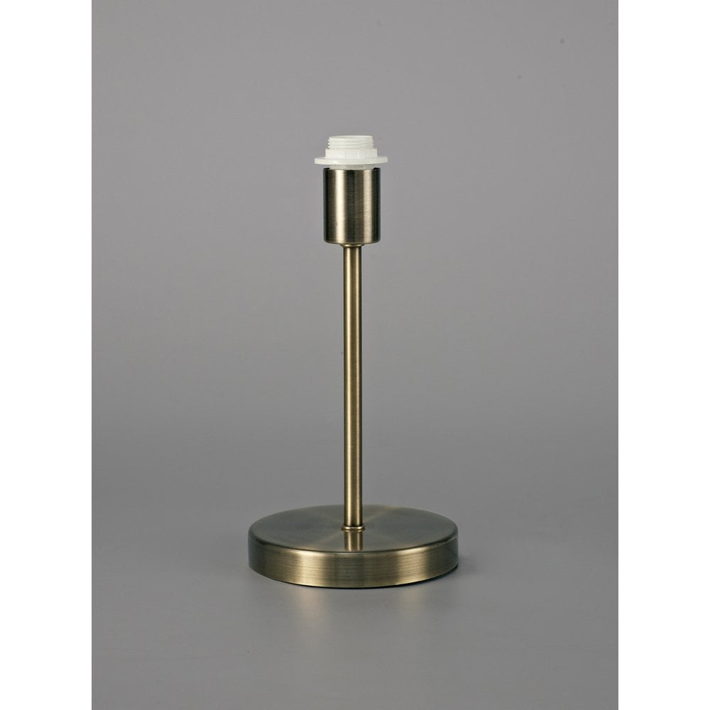 Deco Cedar Single Light Small Table Lamp Base In Antique Brass