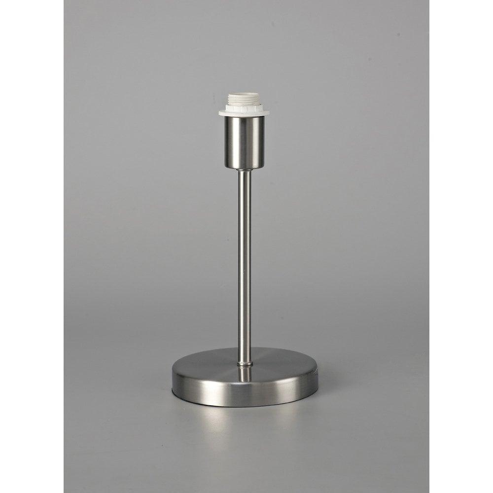Deco Cedar Single Light Small Table Lamp Base In Satin Nickel