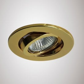 Hudson Single Light Adjustable Recessed Ceiling Fitting in Gold Finish