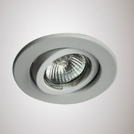 Hudson Single Light Adjustable Recessed Ceiling Fitting in White Finish