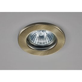 Hudson Single Light Fixed Recessed Ceiling Fitting in Antique Brass Finish
