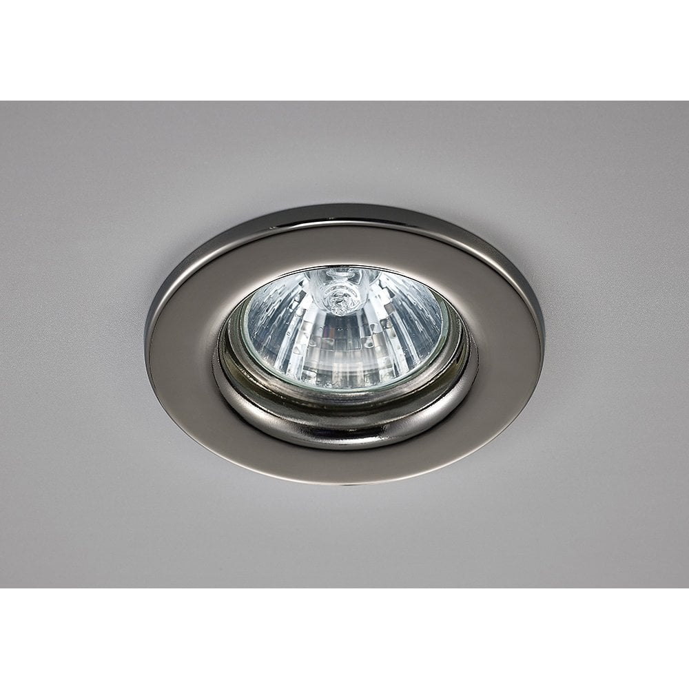 Deco hudson single light fixed recessed ceiling fitting in black chrome finish