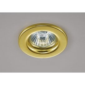 Hudson Single Light Fixed Recessed Ceiling Fitting in Gold Finish