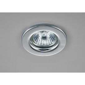 Hudson Single Light Fixed Recessed Ceiling Fitting in Polished Chrome Finish