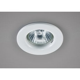 Hudson Single Light Fixed Recessed Ceiling Fitting in White Finish