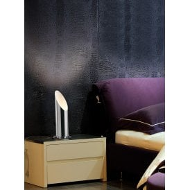 Indio Single Uplighter Table Lamp in Polished Chrome Finish