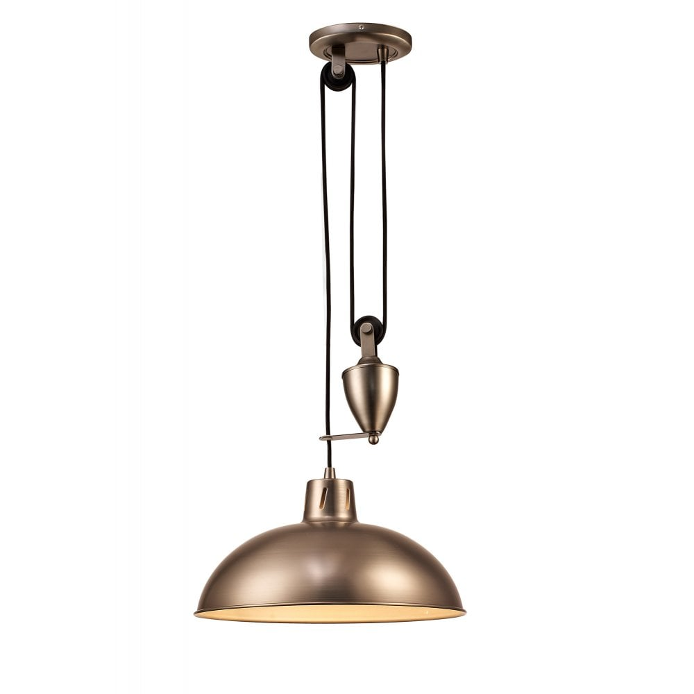 0a7d972620e3 Deco Wellington Single Light Rise and Fall Fitting in Antique Nickel Finish  Product Code: D0150