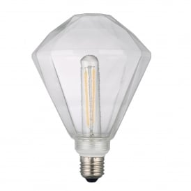 Decorative Faceted 4w Dimmable LED E27 Lamp Kit in Warm White