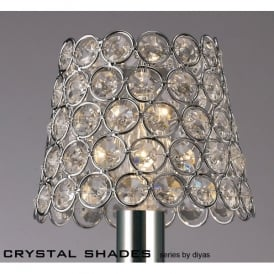 Decorative Polished Chrome Ring Style Shade with Clear Crystal Insets