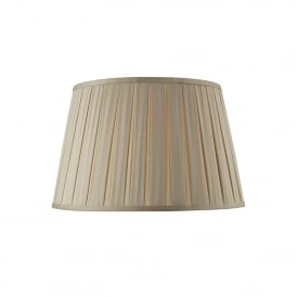 Degas 40cm Taupe Faux Silk Box Pleat Empire Drum Shade