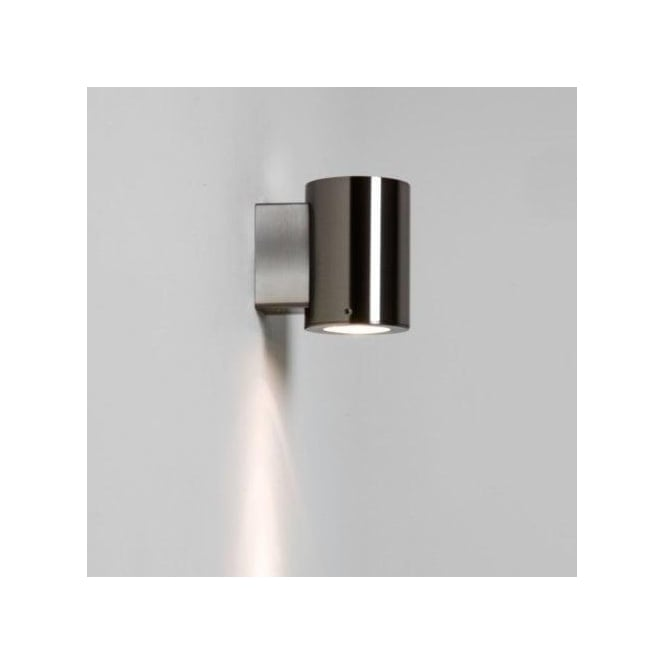 Astro Lighting Detroit Single Light Outdoor Wall Fitting in Brushed Stainless Steel Finish (Dimmable)